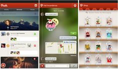 Path Android UI Design Path is another social networking app to let you connect with friends and family via your mobile. The user interface design of this app is very beautiful. It comes with different design for different features like home, shop, message screen…