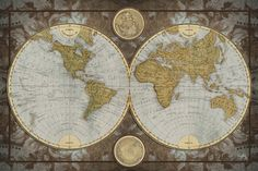 World Map Prints by Elizabeth Medley at AllPosters.com
