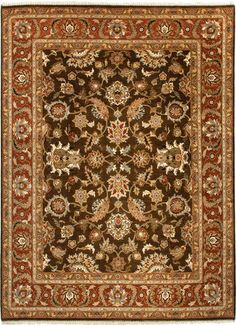 Atlantis Collection Jhanki 100% Wool Area Rug in Tobacco & Rust design by Jaipur