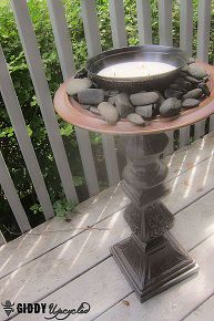 citronella firepot lamp upcycle thrift, outdoor living, repurposing upcycling