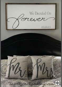 Wedding Gifts Large Wooden Sign / We Decided on Forever / Master bedroom Sign / Over the bed signs / personalized Sign / Wedding gift Bedroom Signs, Home Bedroom, Bedroom Decor, Bedroom Ideas, Rustic Master Bedroom, Bedroom Quotes, Signs For The Bedroom, Signs For Home, Signs For Bathroom