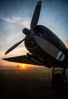 Gooney Bird greets the rising sun over the flightline, photography by Barb Cochran