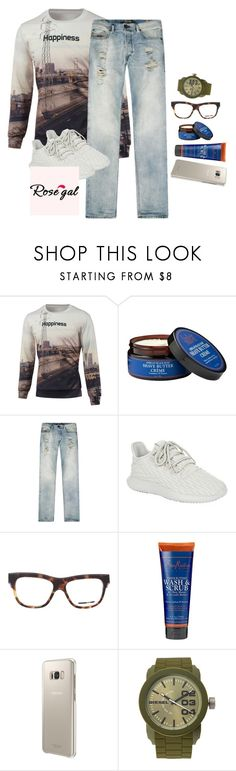 """Untitled #1985"" by purplicious ❤ liked on Polyvore featuring SheaMoisture, Diesel, adidas Originals, McQ by Alexander McQueen, Samsung, men's fashion and menswear"