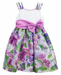 5da10bfc9 Jayne Copeland Little Girls' Three-Strap Side-Bow Dress & Reviews - Kids -  Macy's