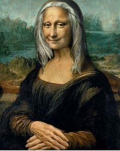 Aesthetic Drawing, Aesthetic Art, Mona Lisa Drawing, Mona Friends, Nerd Memes, La Madone, Mona Lisa Parody, Mona Lisa Smile, High School Art Projects