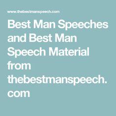 Best Man Speeches and Best Man Speech Material from thebestmanspeech.com