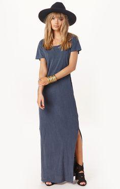 t-shirt maxi dress by LNA   PLANET BLUE