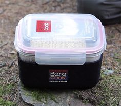 BaroCook - The BaroCook system uses exothermic reaction packets to heat your food. Activated by water, these packets will boil water, and cook your dinner in the compact nesting containers, & they stay at 212º for up to 30 minutes. No fire. | Werd
