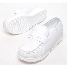 White 4cm Wedge Platforms Nursing Comfort Loafers Women Shoes US 9 / UK 6.5 #Unbranded #LoafersMoccasins