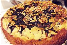 gluten free - lemon ricotta cake with blueberries and almonds