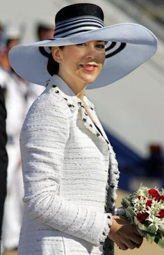 Princess Mary, March 8, 2005. Chanel coat.