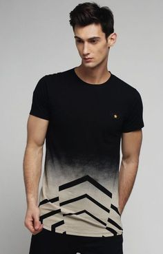 Buy Difference Of Opinion Men Black Printed Round Neck T Shirt - Tshirts for Men 2438873 Lacoste, Buy T Shirts Online, Polo T Shirts, Casual Outfits, Casual Clothes, Black Print, Neck T Shirt, Shirt Style, Mens Fashion