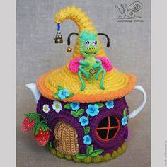Teekannenwärmer /Tea Cozy Teapot Cover, Tea Mugs, Cosy, Jar, Christmas Ornaments, Knitting, Holiday Decor, Tea Cosies, Pretty