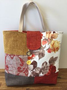 Upcycled Tote - upholstery fabric samples