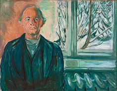 Edvard Munch, Self-Portrait by the Window, c. 1940.  Munch Museum