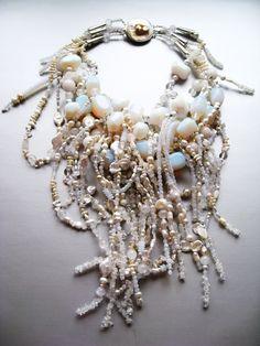 Moonstone Cascade Necklace