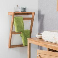 Interior, Diy Furniture, Home, Teak Wall, Towel, Bathroom Interior, Wall Mounted Towel Holder, Towel Rack, Bathroom Decor