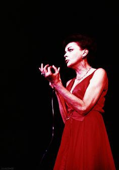 """Judy Garland performs at what would be her last concert in Copenhagen, 1969. """