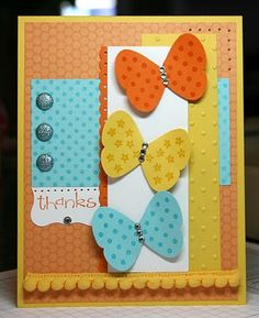 Stampin' Up!  Butterfly Punch  Krystal De Leeuw