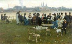 Nicolaas van det Waay, Een zomeravond bij het tolhuis, Amsterdam 1891. Simonis & Buunk.