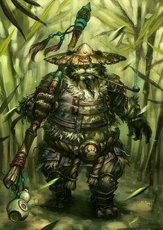 Warcraft Dota, Wow Of Warcraft, New Fantasy, Final Fantasy Xiv, Wow Monk, Pen & Paper, Warcraft Characters, Warrior Tattoos, Panda Art