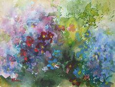 Hortensia's, aquarel by Margo Pasman
