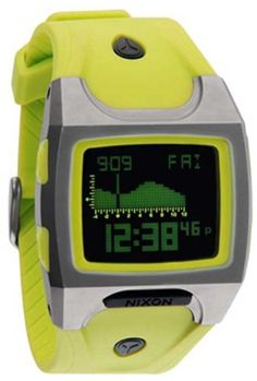 Nixon Lodown TI Tide Watch  Lime ** Check out the image by visiting the link.