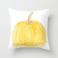 Yellow Pumpkin Throw Pillow