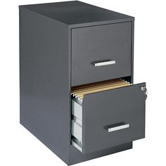 HIRSH Black Vertical 2-Drawer Filing Cabinet Metal   Zak and ...