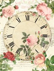 DECOPAULA Coffee Clock, Clock Printable, Clock Template, Clock Craft, Diy And Crafts, Paper Crafts, Face Images, Craft Club, Decoupage Paper
