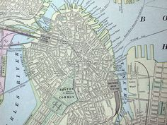 antique map of boston