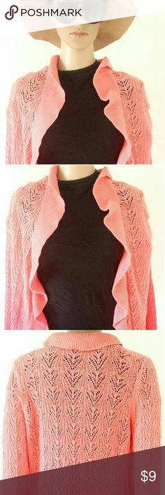 Inc International Concepts Womens Pink Cardigan Size: L LARGE 55% Ramie 45% Cotton In Very good condition!! Very adorable!! A great gift!! Fast shipping!! INC International Concepts Sweaters Cardigans