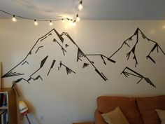 Washi tape mountains More