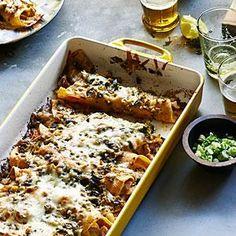 Green Chile Chicken Enchiladas Recipe | MyRecipes.com