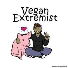 """""""Vegan ist zu extrem"""", dies ist eine häufige Ansicht von Fleischessern, selbst von solchen, die der veganen Ernährung durchaus aufgeschlossen gegenüber sind. In einer Umfrage äußerten immerhin 43,4% der befragten Fleischesser, dass die Extremität der veganen Lebensweise der Grund dafür sei, dass sie selbst nicht vegan leben würden. Extrem ist ein Wort, welches in aller Regel negativ"""