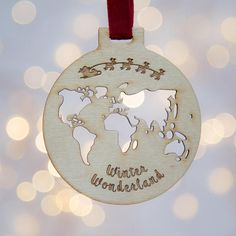Shop our curated collection of gifts at Not On The High Street. Discover of gifts for all occasions from of unique and personalised products by the UK's best small creative businesses. Etsy Christmas, Christmas Baubles, Wooden Christmas Tree Decorations, Holiday Decor, Unique Gifts, Handmade Gifts, Santa Sleigh, Joy To The World, Travel Themes