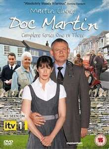 Mildly aspergersy, extremely unpleasant and inexplicably sexy. Doc Martin has to leave his high ranking position in London to work as a fishing town's doctor...because he's afraid of blood. The town is full of quirk and funny, and so is the whole show.