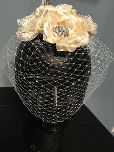 Check out this item in my Etsy shop https://www.etsy.com/listing/280521930/stunning-blusher-birdcage-bridal-veil