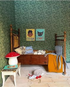 Not Your Usual Top 10 Kids' Room Trends for 2019 - Nursery Decor - Girls Bedroom, Bedroom Decor, Toddler Rooms, Kids Room Design, Room Kids, Metal Beds, Kid Spaces, Kid Beds, Vintage Children
