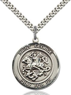St. George Pendant (Sterling Silver) by Bliss | Catholic Shopping .com