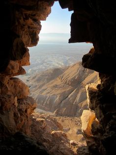 Masada, Israel ..reminds me of my profile picture w/my daughter ...although I would LOVE to see this cave!