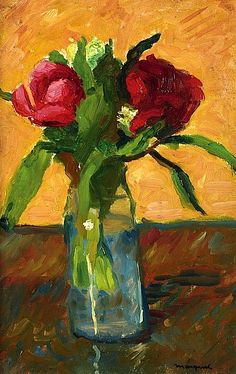Peonies in a Glass Vase - Albert Marquet Paris, Rue Monge - Sketch (a double sided-work) Matisse, Painting Still Life, Arte Floral, Love Art, Painting Inspiration, New Art, Vintage Art, Peonies, Art Gallery