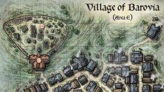 """Popatrz na ten projekt w @Behance: """"Village of Barovia Map"""" https://www.behance.net/gallery/40347423/Village-of-Barovia-Map"""