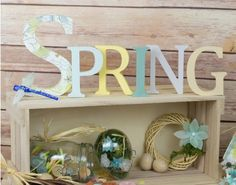 Make Your Own Watercolour SPRING Wooden Letter Decoration - Watercolour Spring - Adults Easter Craft Ideas - Adults Easter Crafts - Easter Easter Crafts For Adults, Adult Crafts, Wooden Words, Wooden Letters, Pastel Watercolor, Make Your Own, How To Make, Spring Crafts, Home Projects