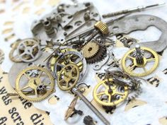 歯車・ネジ等、時計パーツ [3グラム入り] - アクセサリーパーツの販売・通販