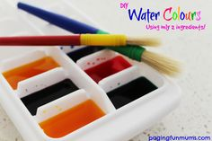 DIY Water Colours using only 2 ingredients!