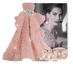 Evening dress by fashionrushs on Polyvore featuring polyvore fashion style Menbur Balenciaga Dolce&Gabbana Chanel Accessorize RALPH & RUSSO Yves Saint Laurent clothing