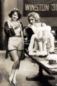 Pre-Code Hollywood (1929-34): Sin on Celluloide-Code ////   Clara Bow & Adrienne Dore