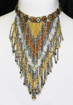 Combining traditional Zulu beadwork with modern jewellery design to produce items with a unique African feel. African Jewelry, African Fashion, African Style, Fringes, Modern Jewelry, Designer Dresses, Beaded Necklace, Dress Up, Jewelry Design
