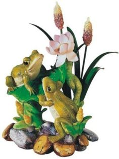 StealStreet SS-G-61010 Frog On Lily Pad Collectible Garden Decoration Figure Sculpture Model ^^ Startling review available here : Christmas Decora…